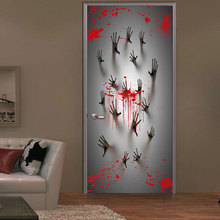 Ghost Handprint Creative 3d Door Sticker Horror Halloween Bloody Home Decor Wall For Party