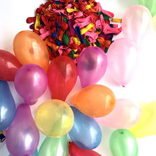 100 pçs/lote plain colorido látex balão bolas infláveis orbs para festas de aniversário em casa casamento engajements decoração do casamento