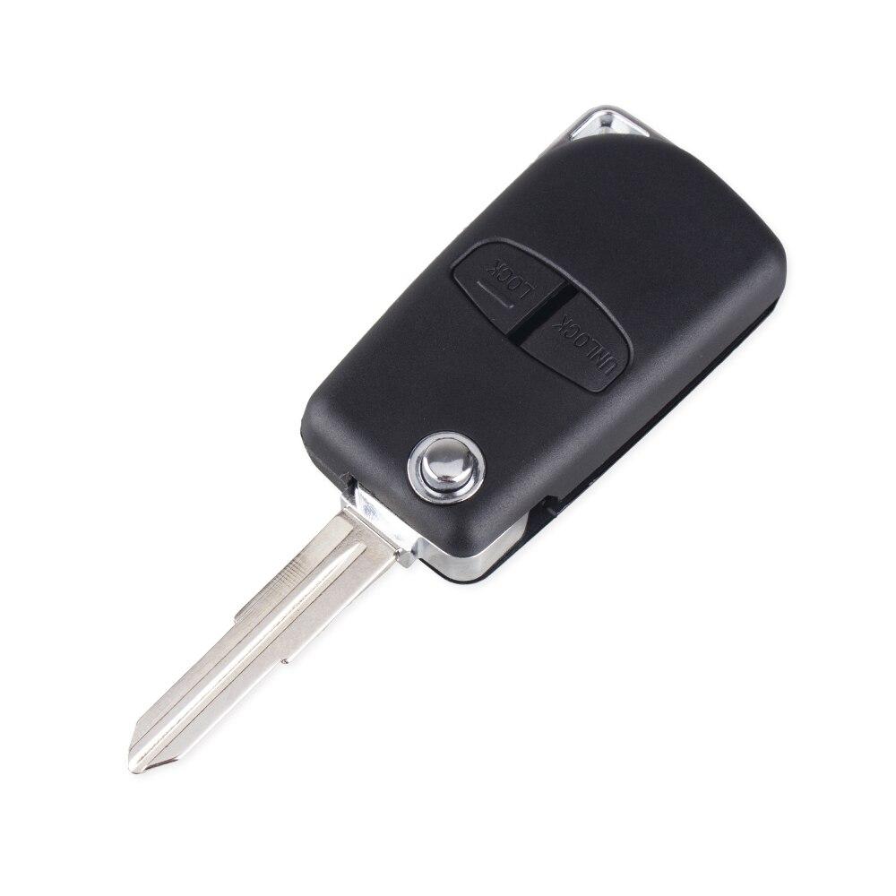 KEYYOU 2 кнопки модифицированный Флип складной пульт дистанционного ключа оболочки чехол для Mitsubishi новый ASX GRANDIS Outlander LANCER-EX правый/левый клинок