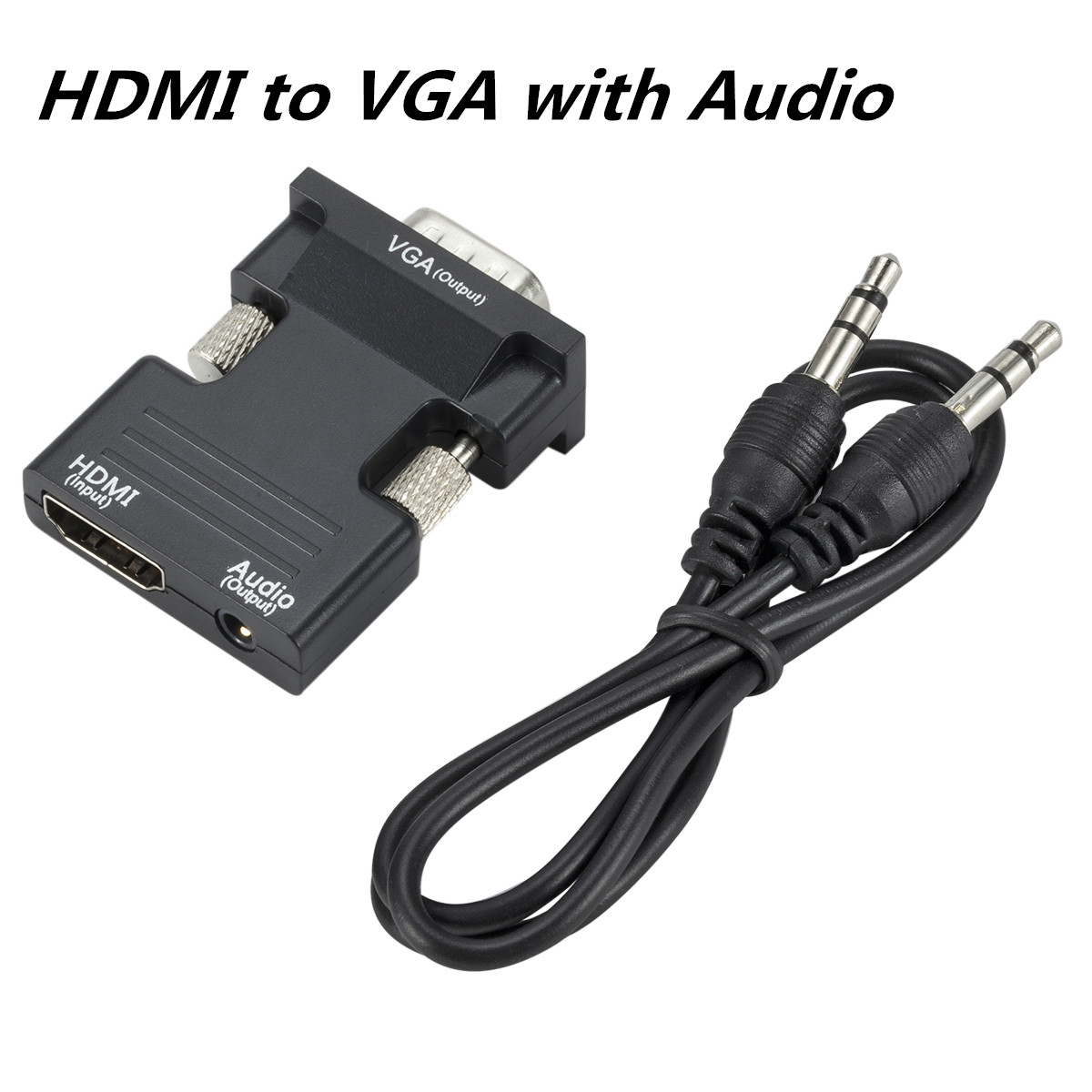 VGA To HDMI Adapter Converter With Audio Support 1080P HDMI To VGA Adapter Converter For PC Laptop TV Box Projector