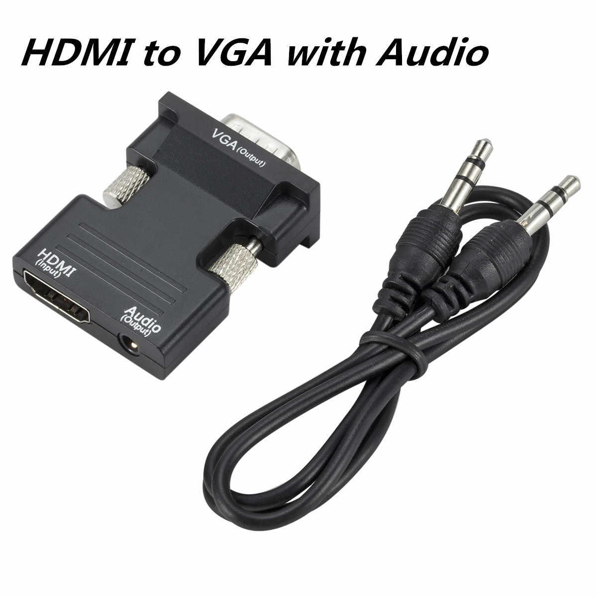 Vga para hdmi adaptador conversor com suporte de áudio 1080 p hdmi para vga adaptador conversor para computador portátil tv caixa projetor