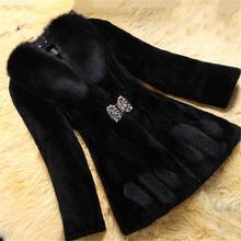 fur long coat 6XL Large Size Women Fashionable Fur Coat 2019 Winter Artificial Fox Long Section Leisure Mink Coats