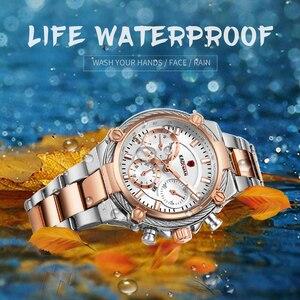 Image 3 - Kademan 高級女性ファッションクラシックデザインの腕時計鋼ストラップ日付クォーツレディース腕時計女性腕時計ガール時計レロジオ feminino