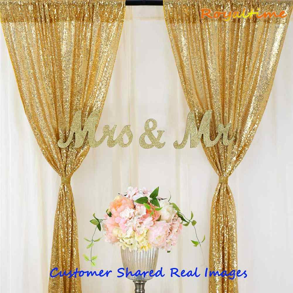 2x8 5ft glitter gold silver rose gold sequin backdrop party wedding photo booth background decoration sequin curtain drape panel