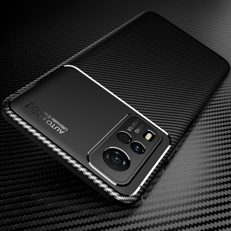 Чехол для Vivo Y 31, задняя крышка из углеродного волокна для Vivo Y31 31Y 2021 V2036 6,58 дюйма, мягкий силиконовый бампер для телефона VivoY31