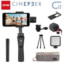 Zhiyun cinepeer c11 cardan 3-axis smartphone móvel handheld estabilizador para iphone/samsung/xiaomi vlog/gopro câmera de ação