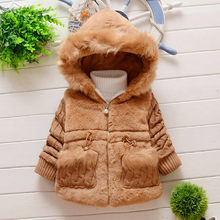 Kids Winter Plush Coat Jacket Baby Girl Winter Warm Jacket Coat Thick Outwear Hooded Snowsuit Girls Jackets Winterjas Meisje(China)