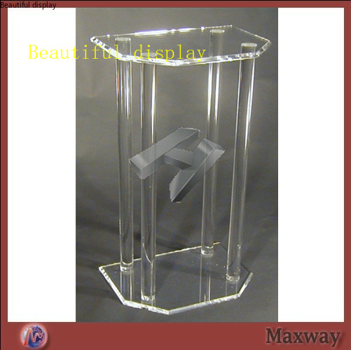 High Transparency Beautiful And Elegant Lectern Plexiglass