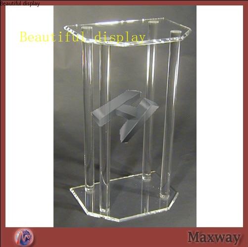 High Transparency Beautiful And Elegant Lectern Plexiglass