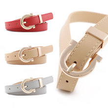 2019 New Casual Women Belt Fashion Leather Belts Vintage Style Gold Pin Buckle Waist Belt 107cmx1.8cm Hot Sale Female Belts все цены