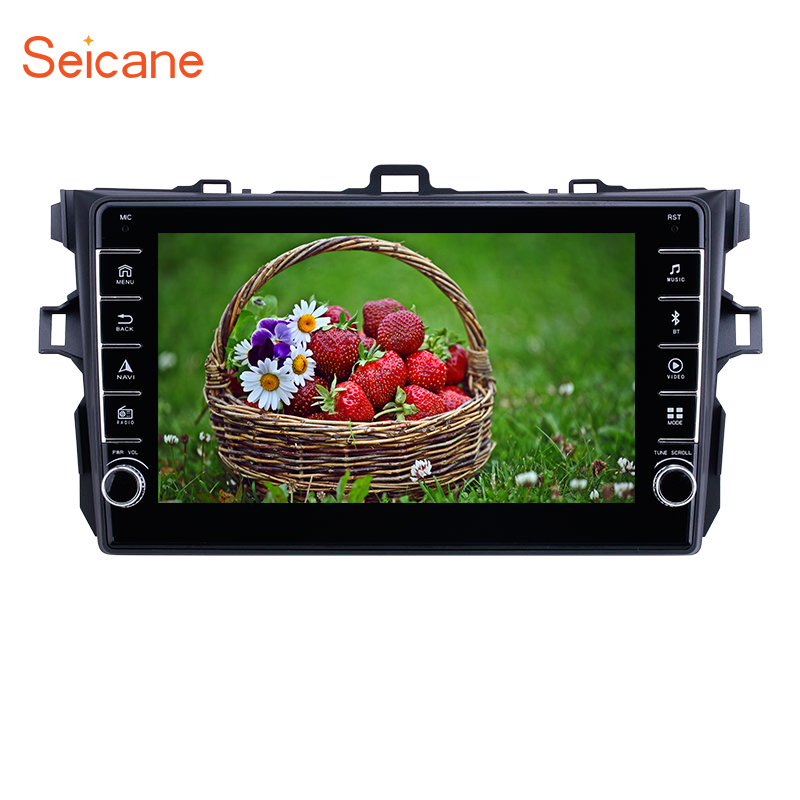 Seicane car <font><b>multimedia</b></font> player Android 9.1 for <font><b>Toyota</b></font> <font><b>Corolla</b></font> 2006 2007 2008 2009 2010 <font><b>2011</b></font> 2012 Head unit Radio GPS Navigation image