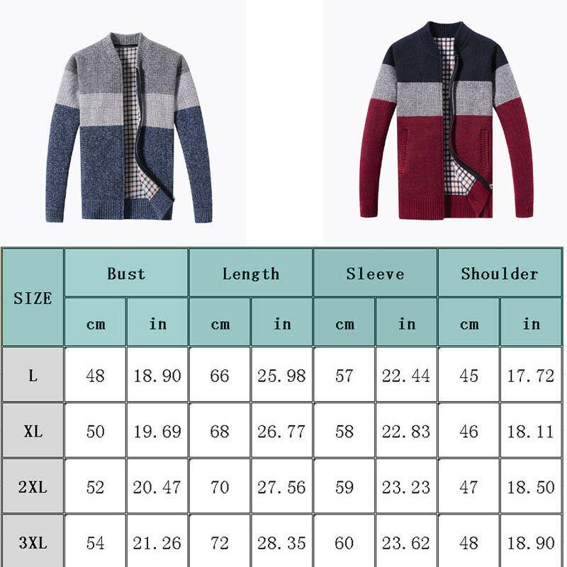 Korean Modis Men Winter Sweater Zipper Cardigan Warm Knitted Male Sweater Stripe Thick Top Overcoat Streetwear Men Sweater 6
