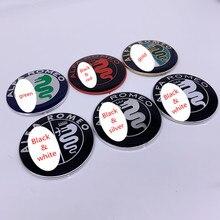 2 шт. 7,4 см Полный хром Цвет ALFA ROMEO автомобилей Логотип эмблема значок наклейка для Mito 147 156 159 166 Специальное предложение распродажа 74 мм