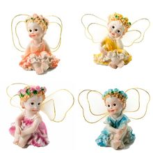 4 Sitting Garden Fairies Miniature Accessories for Decoration Children Toys