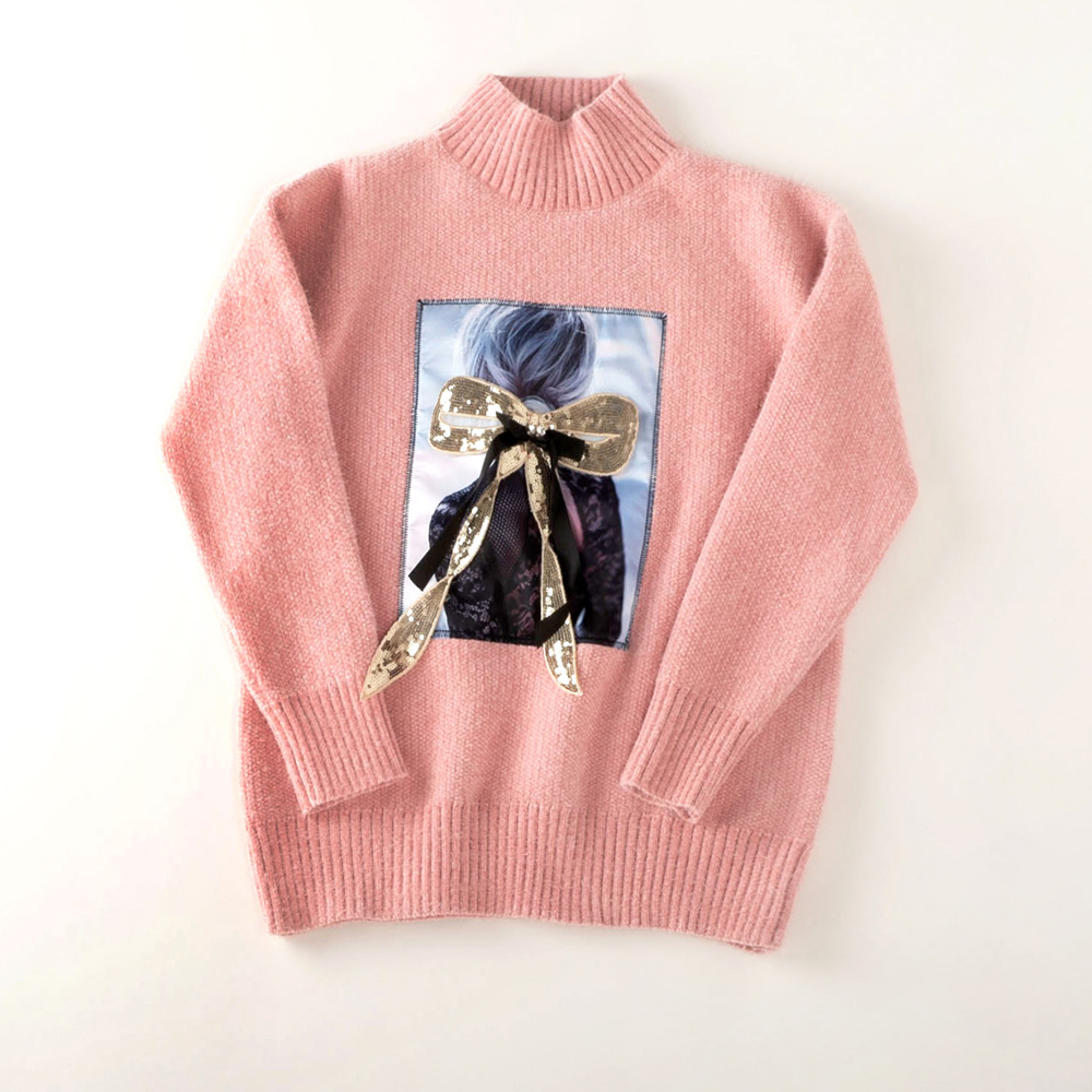Thicken Warm Winter Beautiful beautiful Sweater Women 4 Colors Mohair Half Turtleneck Pullovers For Woman Fashion Knitting Wear
