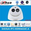 Сетевой видеорегистратор Dahua IPC-HDW4433C-A 4MP HD POE сети Starnight IR купольная IP камера Камера Встроенный микрофон CCTV Камера заменить IPC-HDW4431C-A