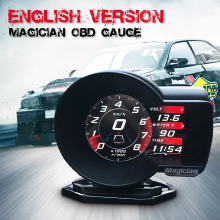 Профессиональный маг OBD Guage F835 Head Up дисплей Автомобильный цифровой Boost температура воды Напряжение Датчик скорости диагностический инструмент