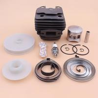 43mm Cylinder Piston Ring Kit For Chinese 4500 45cc Recoil Starter Drive Pulley Spring Spark Plug Chainsaw Part