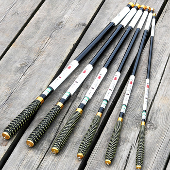 Ultralight and Super Hard Telescopic Fishing Rods with Braided Handle and Rotatable Handle