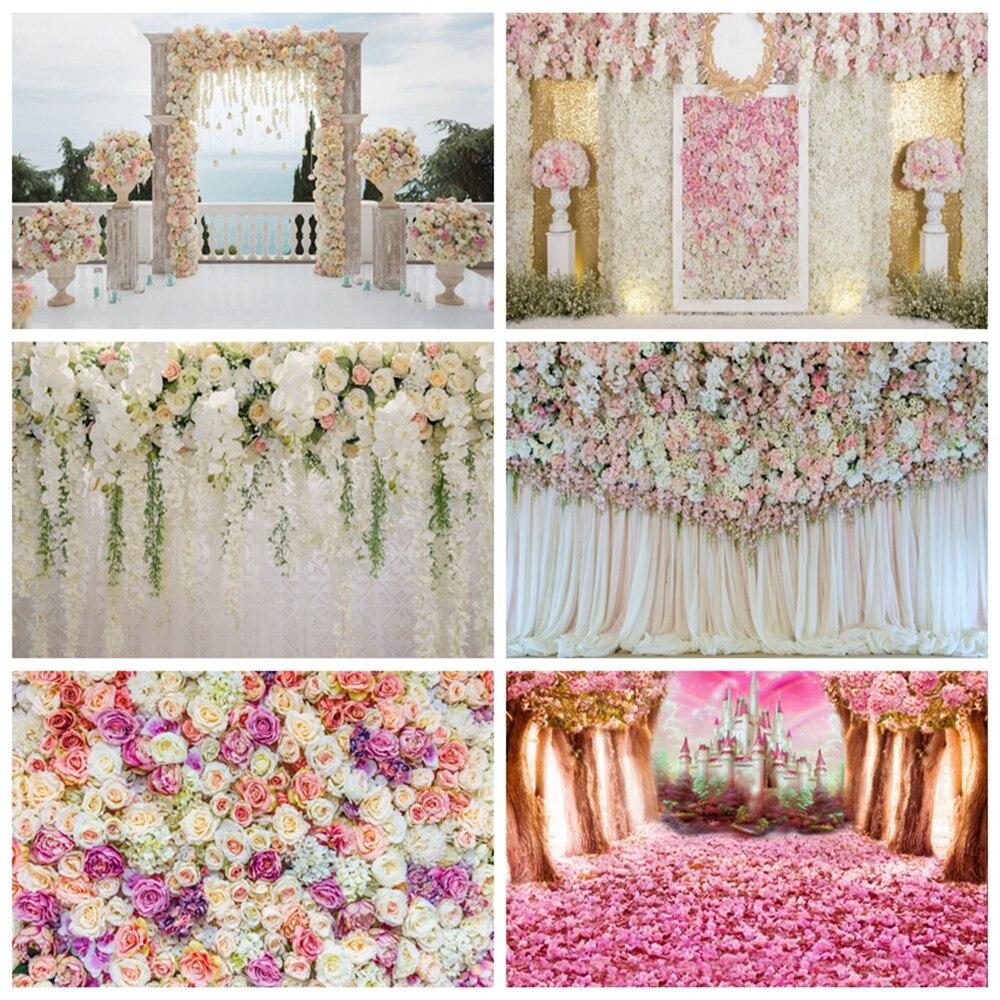 Sesión fotográfica de boda primavera flor matrimonio Baby Shower cumpleaños fondo personalizado fotografía fondo para foto estudio fotófono