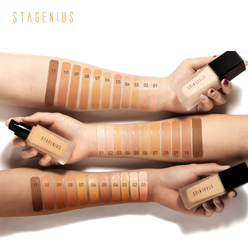 STAGENIUS Face Foundation Stick Makeup Matte Full Coverage Liquid Smooth Concealer Waterproof  Base Foundation music flower natural liquid foundation cream soft matte full coverage liquid foundation face makeup base waterproof concealer