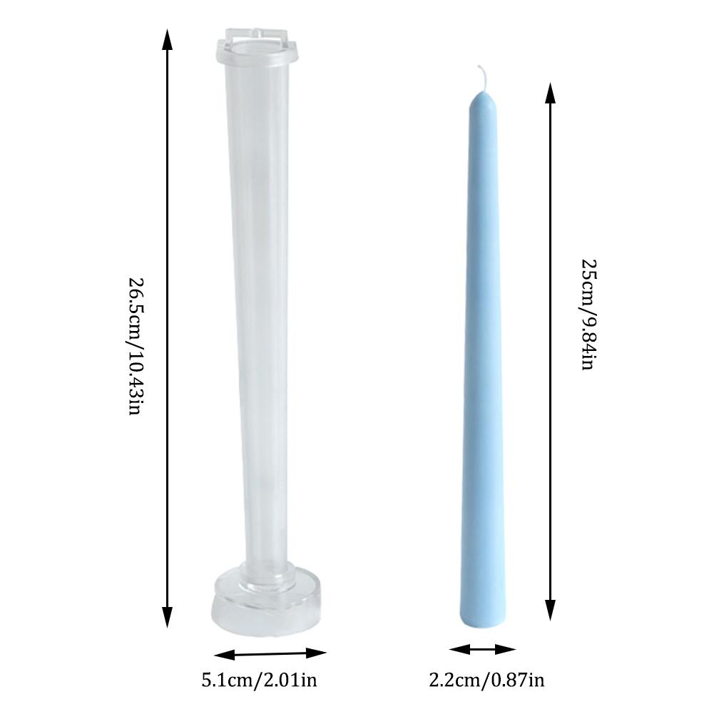 1pc Long Rod Shaped Plastic Candle Mould Model DIY Handmade Crafts Candle Making Molds For Wedding Family Party Decoration