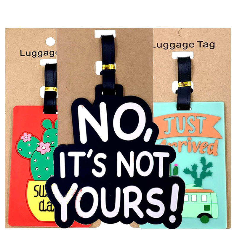 Travel Accessories Cartoon Letter Cactus Luggage Tags Portable Suitcase ID Addres Holder Women Silica Gel Baggage Boarding Label