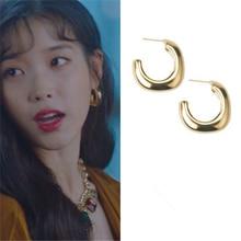 C shape DEL LUNA Hotel IU Korean dramas TV New Fashion Eardrop Elegant For Women Earrings pendientes brincos ornament