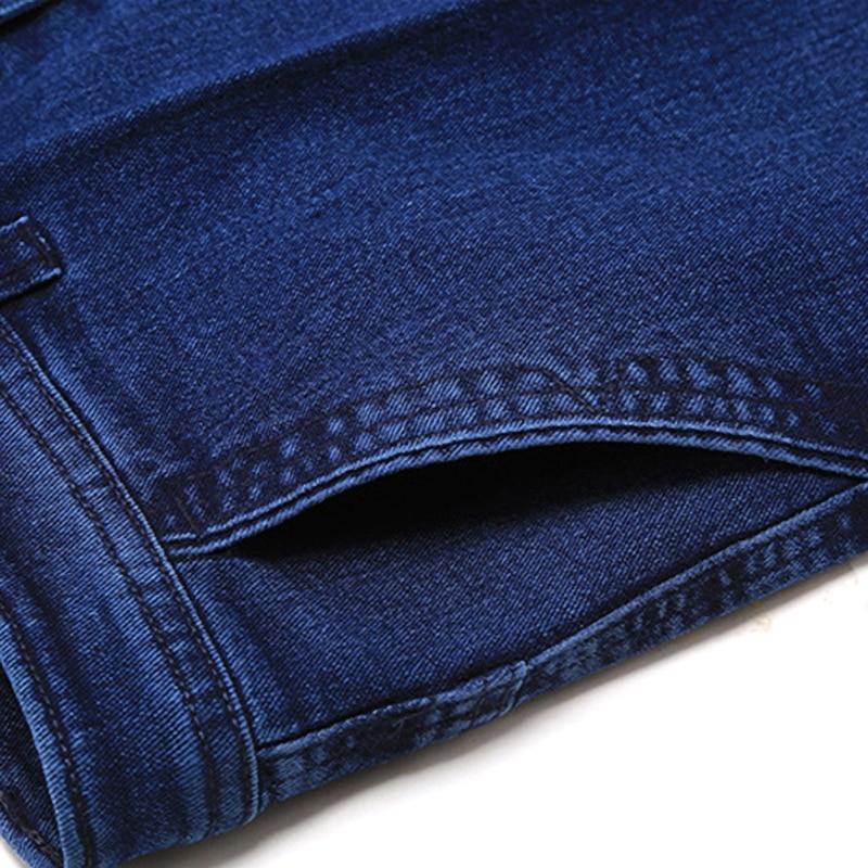 Size 30-45 Men Business Jeans Classic Male Cheap Jeans Plus Size Baggy Straight Men Denim Pants Cotton Blue Work Jeans Men