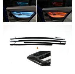 Panel wewnętrznego drzwiowego + konsola środkowa Panel dekoracyjny AC z niebieskimi i pomarańczowe kolory atmosfera światła dla BMW serii 3 F30 tanie i dobre opinie lead the future