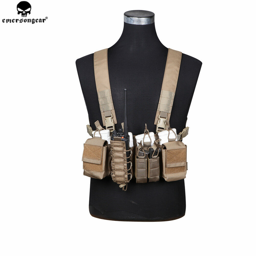 emersongear Emerson D3CR Tactical Chest Rig Rapid Assault Military Armor Airsoft Hunting Vest Combat Gear in Hunting Vests from Sports Entertainment