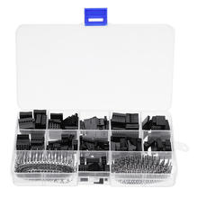 620pcs Dupont Connector 2.54mm Cable Jumper Wire Pin Header Housing Kit 2 3 4 pin Male Crimp Pins Female Pin Terminal Connectors 100pcs lot 4p 2 54mm single row plastic dupont head jumper wire cable housing female pin connector