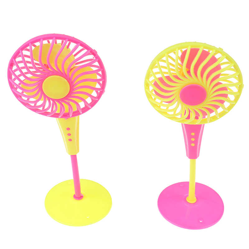 Mini Plastic Fan Doll Accessories Doll Furniture Dollhouse For Barbie Dolls Girl Toys Gift