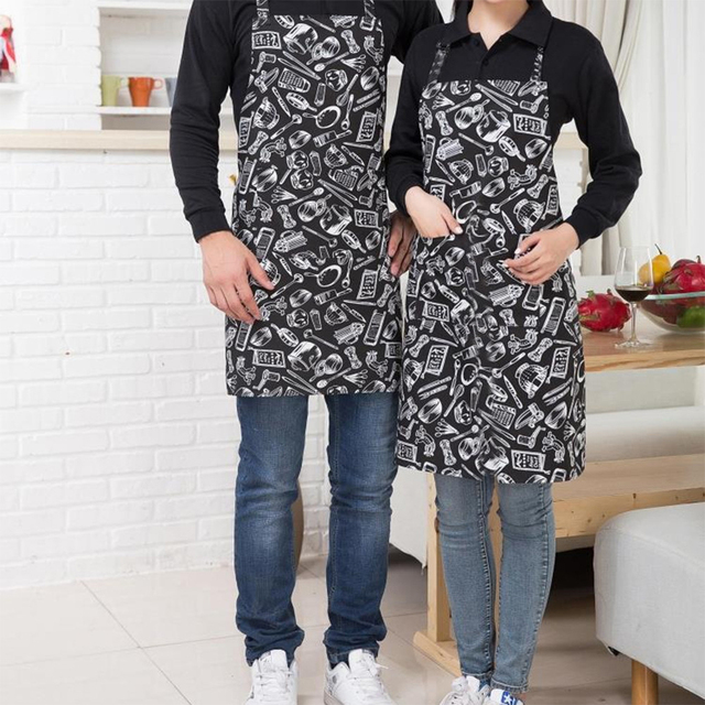 Unisex Apron Adjustable Half-length Adult Apron Hotel Chef Waiter Apron Kitchen Cook Apron With 2 Pockets фартук для кухни 3