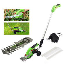 Home Portable Grass Trimmer Electric Lawn Mower Garden Lawn Mower Comfort Handle Replaceable Cutter Head 2 Blade Fast Ship