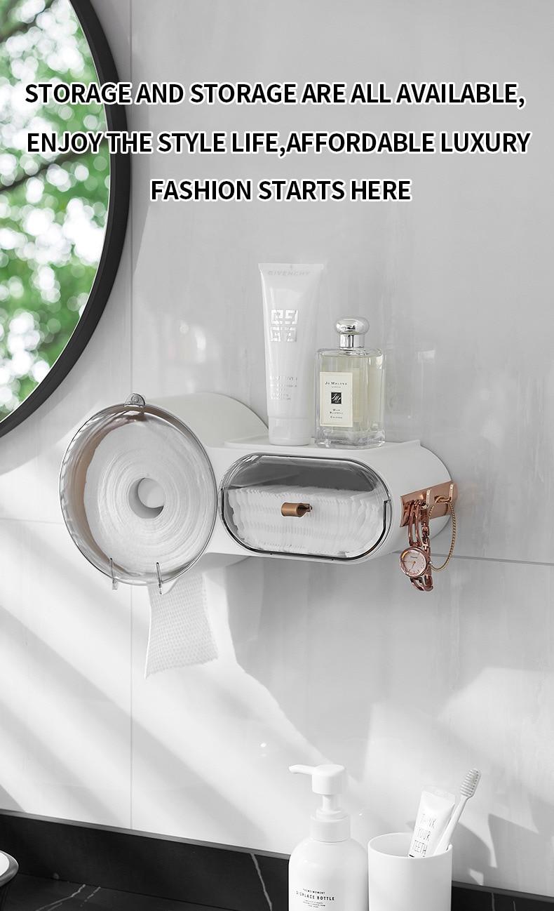higiênico capa multifuncional organizador armazenamento do banheiro suporte papel