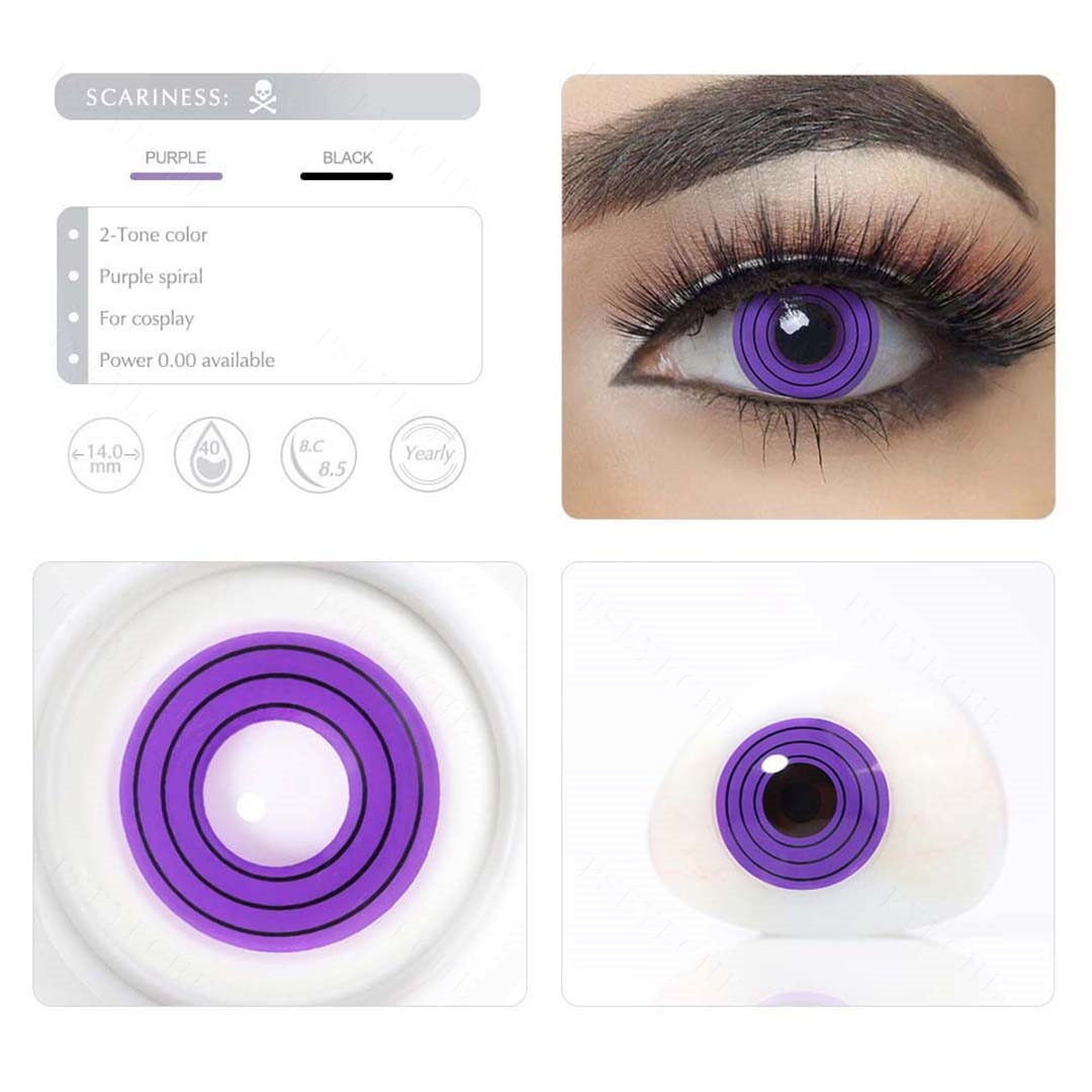 Violet Cosplay Colored Lenses Color Contact Lenses Demon Slayer Cosplay  Anime Eye Contacts Purple Lenses Halloween Contact Lens