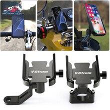 Akcesoria motocyklowe kierownica uchwyt telefonu komórkowego wspornik stojakowy GPS dla SUZUKI VSTROM DL 250 650 1000 v strom 650/XT 1000/XT