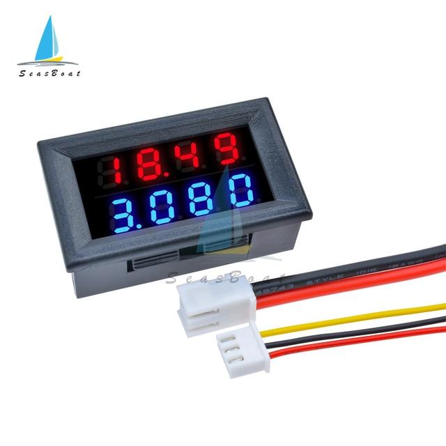 """Mini Digital Voltmeter Ammeter DC 100V 200V 10A Panel Amp Volt Voltage Current Meter Tester Detector 0.28"""" Dual LED Display"""