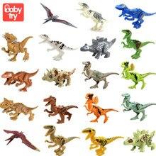 8pcs/set Flame Tyrannosaurus Stygimoloch Model Building Blocks Toys Legoin Dinosaurs Jurassic World Park  For Children Boy