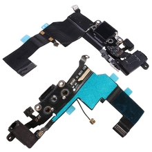 USB Charging Port Connector Micphone Earphone Jack Flex Cable Parts for iphone 5S M5TE