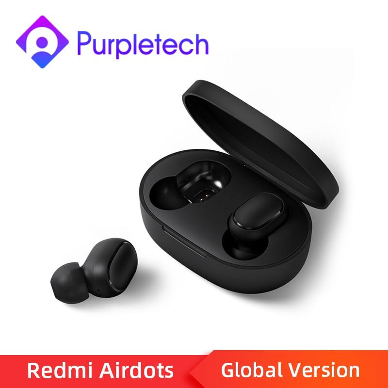 Tüketici Elektroniği'ten Telefon Kulaklıkları ve Radyo Kulaklıkları'de Stokta Xiaomi Redmi Airdots TWS Bluetooth 5.0 kablosuz kulaklık kulaklık ses kontrolü gürültü azaltma spor kulakiçi title=