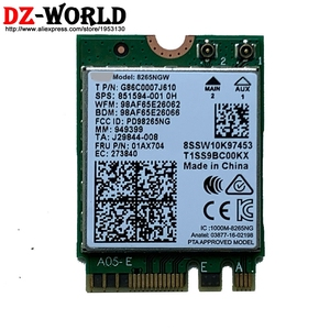 Dual Band Wireless 8265 8265NGW NGFF 867Mbps WiFi Bluetooth4.2 Card for lenovo 520S-14IKB 520-15IKB X280 Laptop