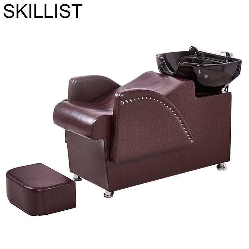 De Belleza Barber Shop Lavacabezas Bed For Beauty Silla Peluqueria Hair Furniture Cadeira Maquiagem Salon Shampoo Chair