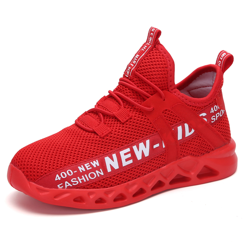 2020 New Kids Sneakers For Boys Fashion Air Mesh Tennistable Breathable Soft Sports Casual Shoes Breathable Soft Children Sneake