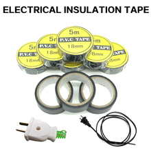 Electrical Insulation Tape Electrical Wire Tape PVC Waterproof High Temperature Resistant 5 Meters Black