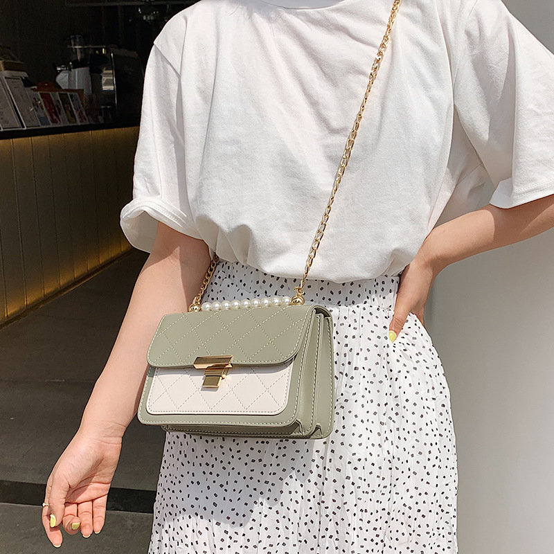 Bolsos Mujer New Fund Of 2019 Autumn Winters Is Han Edition One Shoulder Aslant Package Small For Ck Joker Pearl Female Bag in Shoulder Bags from Luggage Bags