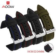 18mm 20mm 22mm 24mm silicone pulseira esporte à prova dwaterproof água masculino banda de substituição para samsung watch3 s3 huawei relógio gt2 46mm amazfit gtr