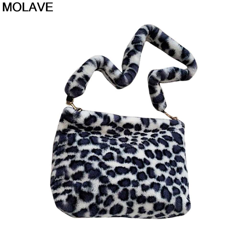 Molave Tas Bahu Leopard Vintage Mewah Tas Musim Gugur dan Musim Dingin Fashion Kapasitas Tinggi Tas Bahu untuk Wanita Bolsa Feminina
