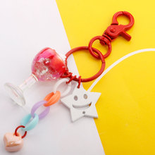 New Simulation Keychain Fruit Flavored Ice Cream Pendant Boutique Candy Color Metal Keychain Bag Ornament Car Key chain gifts ice cream design keychain